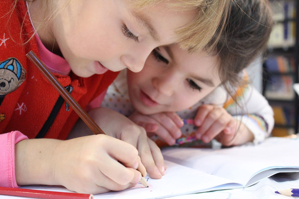 Learning children, CC0 licence